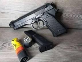 Pistola a resorte balines de acero