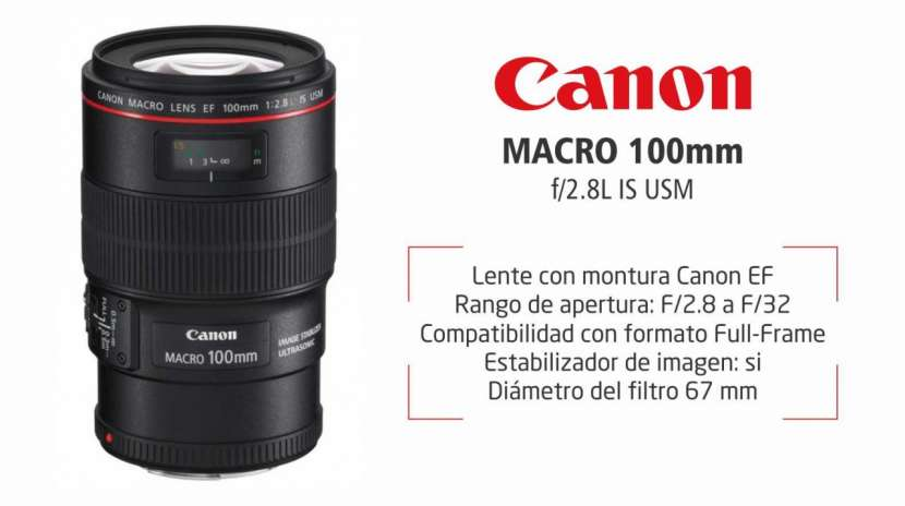 Lente Canon EF 100mm F/2.8 Macro IS USM - 0