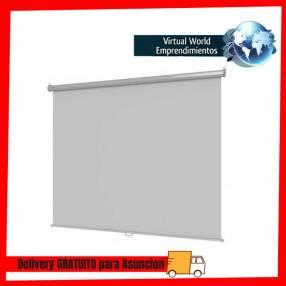 "Pantalla para proyector 60"" klip kps-380w manual blanco"