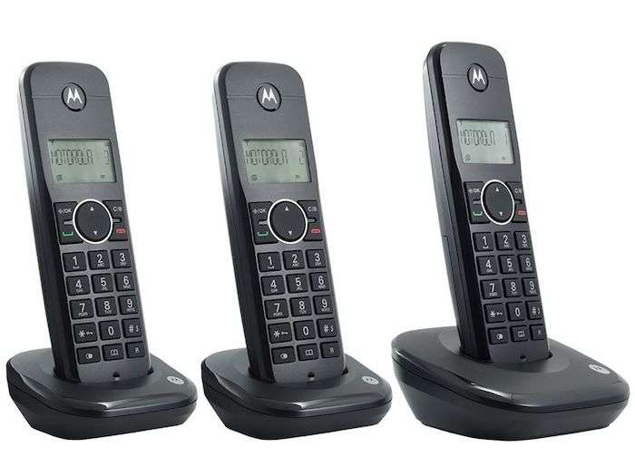Teléfono Motorola 500ID 3 bases bivolt negro - 2