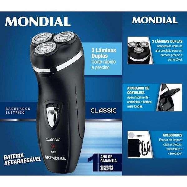 Barbeador Mondial Classic NBE-01 bivolt recargable - 1