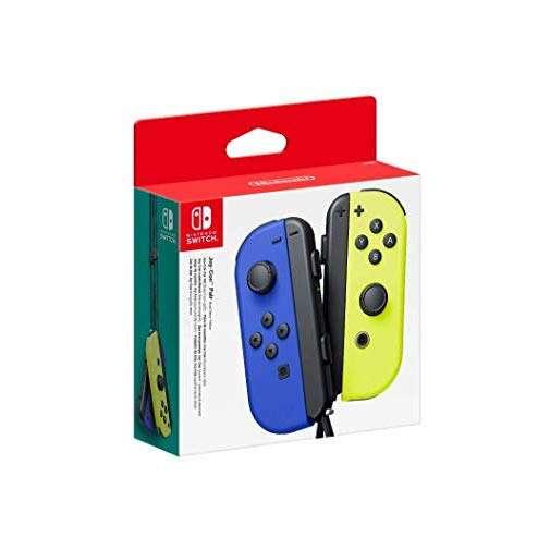 Controles Joy-Con para Nintendo Switch azul y amarillo - 0