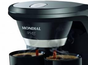 Cafetera Mondial C-18 Smart y 2 tazas negro
