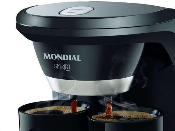 Cafetera Mondial C-18 Smart y 2 tazas negro - 1