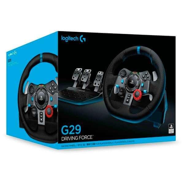 Volante Logitech Driving Force G29 para PS4 pc - 0