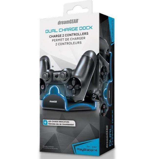 Cargador dual DreamGear 6402 para PS4 - 0