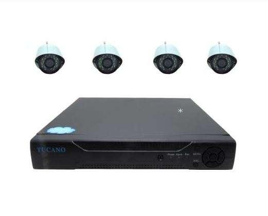 Kit DVR Tucano 8 canales 4 cámaras HD