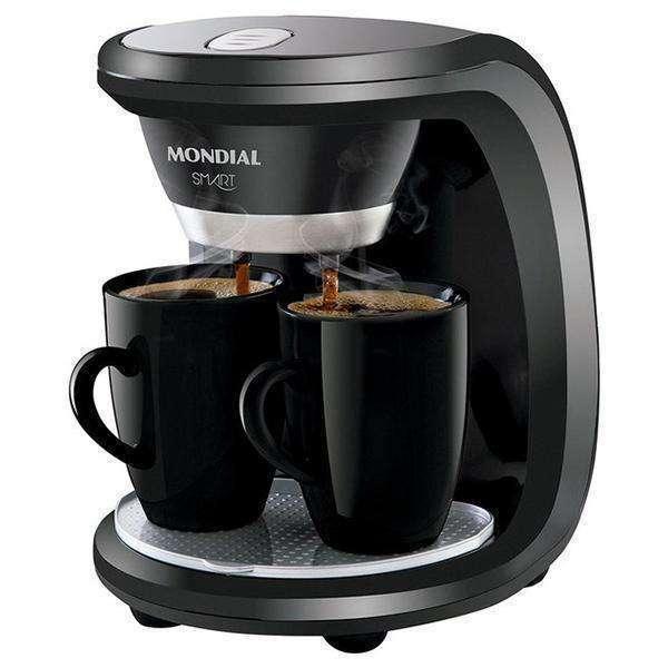 Cafetera Mondial C-18 Smart y 2 tazas negro - 0