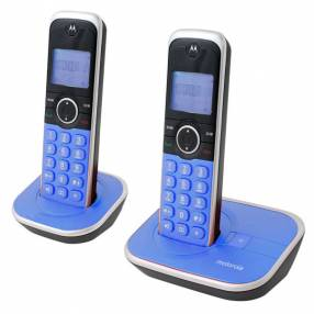 Teléfono Motorola GATE-4800A-2 azul 2 bases bivolt