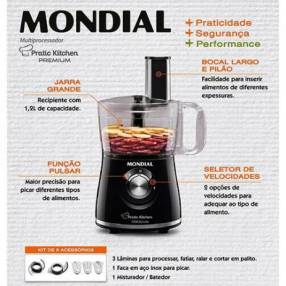 Multiprocesador Mondial MP-13 Pratic Kitchen 500W