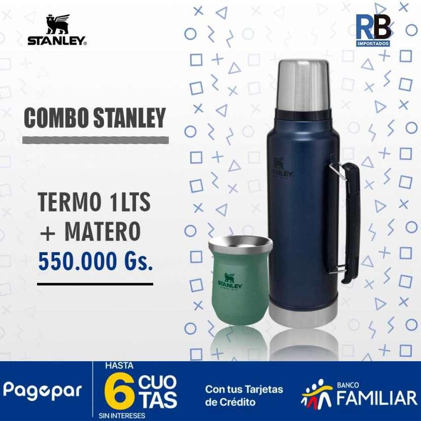 Combo Termo Stanley Classic 1 litro azul noche y matero - 3