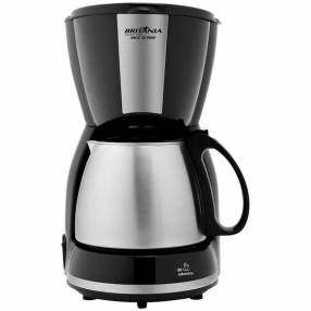 Cafetera Britania Inox 30 temperaturas 220v negro plata