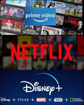 Promo Netflix + Amazon + Disney