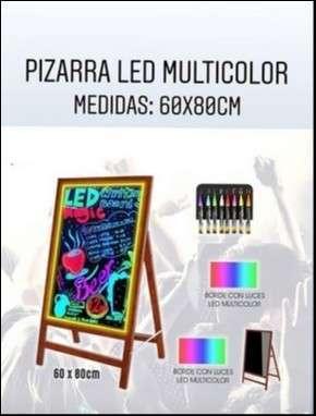 Pizarra led multicolor 60x80cm - 0