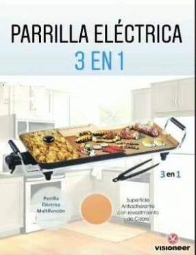 Parrilla eléctrica 3 en 1