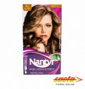 Kit crema color Nantyr rubio ceniza 7.1