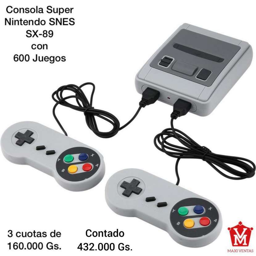 Super Nintendo SNES con 600 juegos - 0
