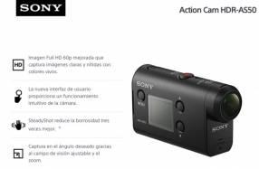 Cámara de Acción Sony HDR-AS50