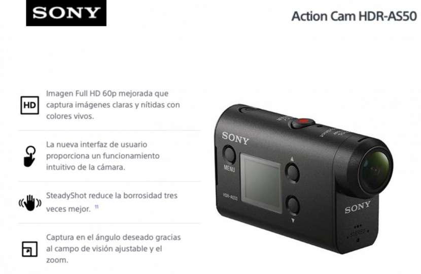 Cámara de Acción Sony HDR-AS50 - 0