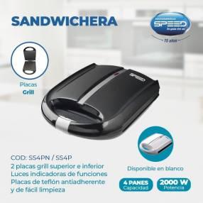 Sandwichera Speed 4P 1.400W NG