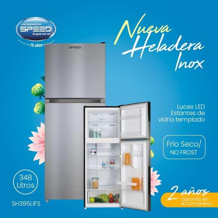 Heladera Speed 348L 2P Inox frío Seco 60x69x170 - 0