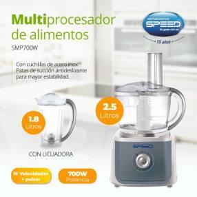 Multiprocesador Speed 700W M/2,5L 10V C/Jarra 1,8L