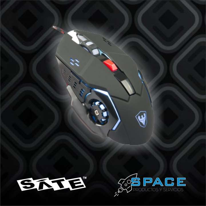 Mouse Satellite A-92 gaming usb negro - 0