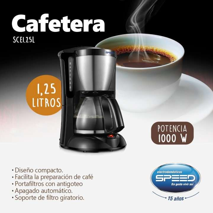 Cafetera Speed 1.2L - 0