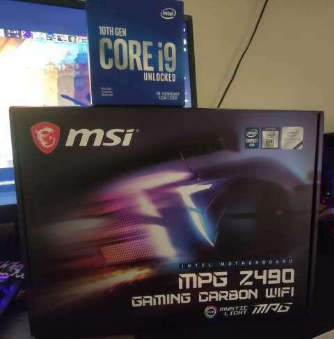 Procesador i9 10900KF Z490 MSI MPG Gaming Carbon wifi - 0
