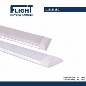 Plafón con tubo LED 18W