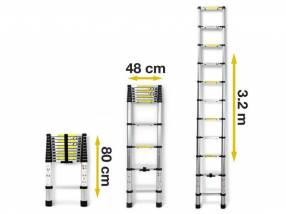 Escalera Telescópica 3.2 mts Consumer