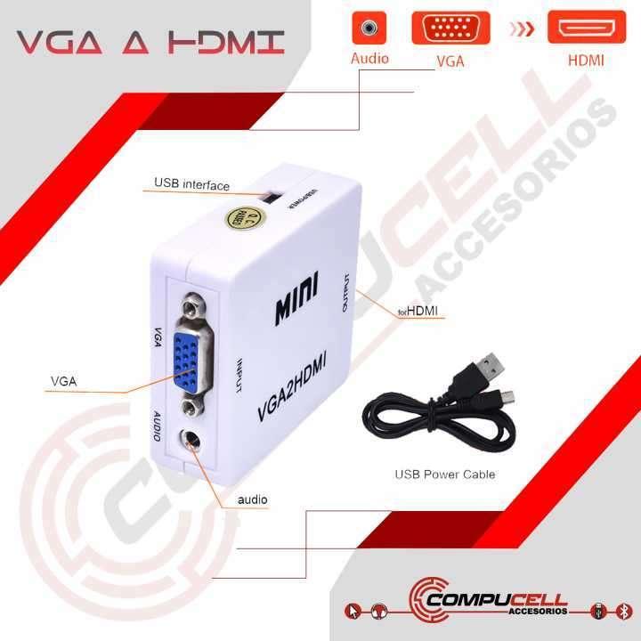 Adaptadores VGA a HDMI - 0