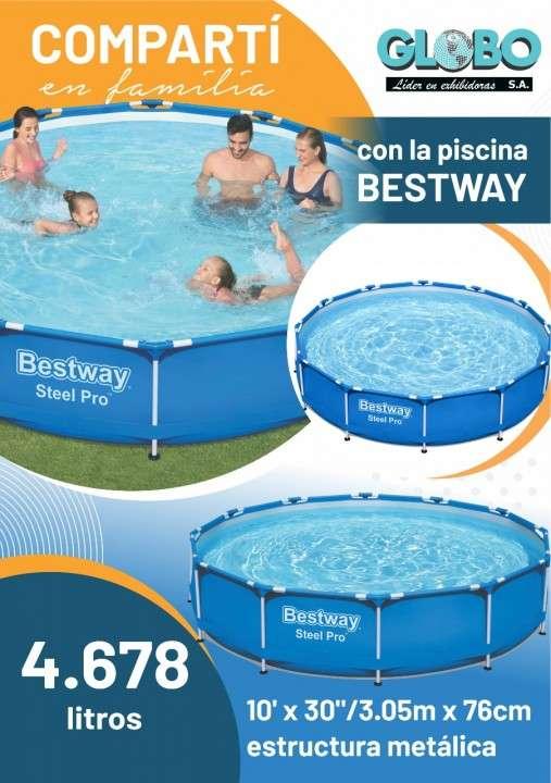 Piscina Bestway SET 56059 estructura metálica 4.678L - 0