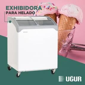 Exhibidora Ugur p/ helado UDD200SCEBN V/C 200L horizontal