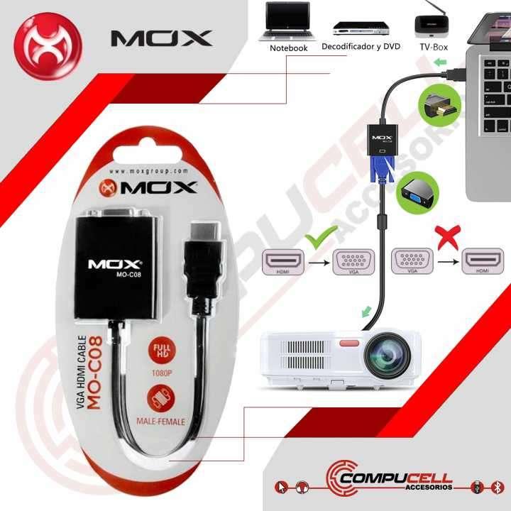 Adaptadores HDMI a VGA MOX - 0