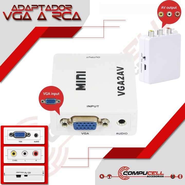 Adaptador VGA a RCA o AV - 0