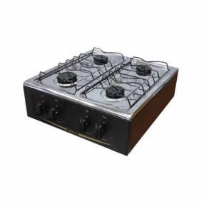 Cocina 4 hornallas mini abbatec Abba negro de mesa