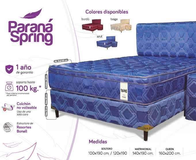 Sommier Paraná Spring 100x190 - 0