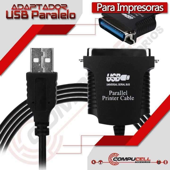 Cable USB a Paralelo, para Impresoras - 0