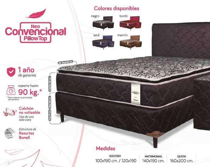 Sommier Neo Convencional Pillow Top 100x190 - 0