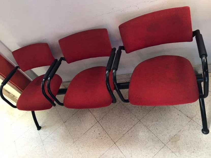 Silla triple para sala de espera - 1