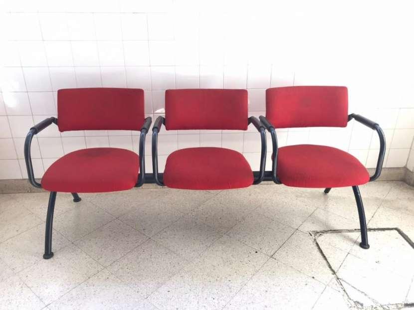 Silla triple para sala de espera - 0