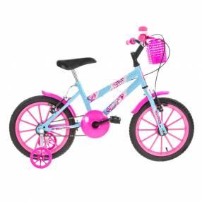 "Bicicleta aro 16"" kids ultra bikes rosa para niñas abba"