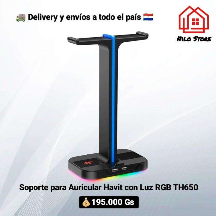 Soporte para auricular Havit TH650 con luces rgb - 0