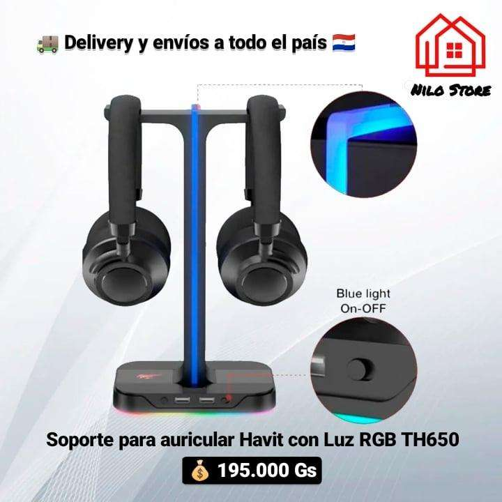 Soporte para auricular Havit TH650 con luces rgb - 1