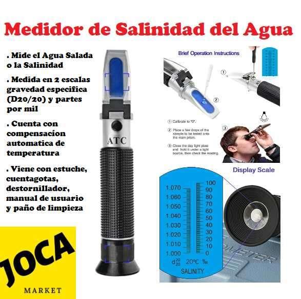 Refractómetro medidor de sal en el agua - 0