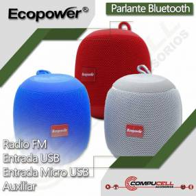 Parlante bluetooth Ecopower