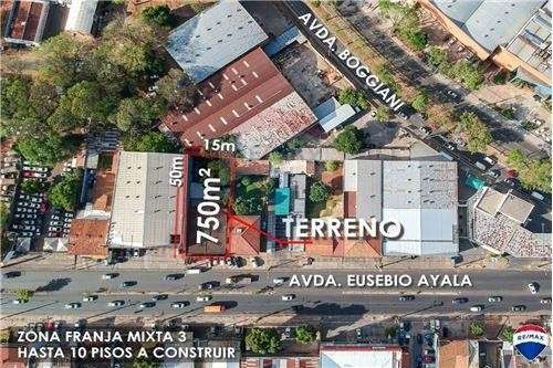 Terreno 15x50 sobre Eusebio Ayala casi Boggiani - 1
