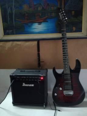 Guitarra Ybanez Gio para zurdos + amplificador