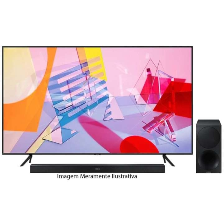 TV QLED Samsung 65 pulgadas 4K Ultra HD/Digital/Wifi + Sound Bar HW - 0